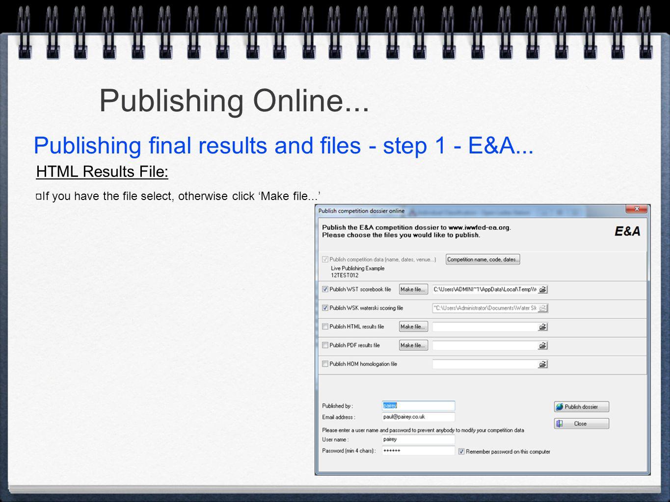 Publishing Online...