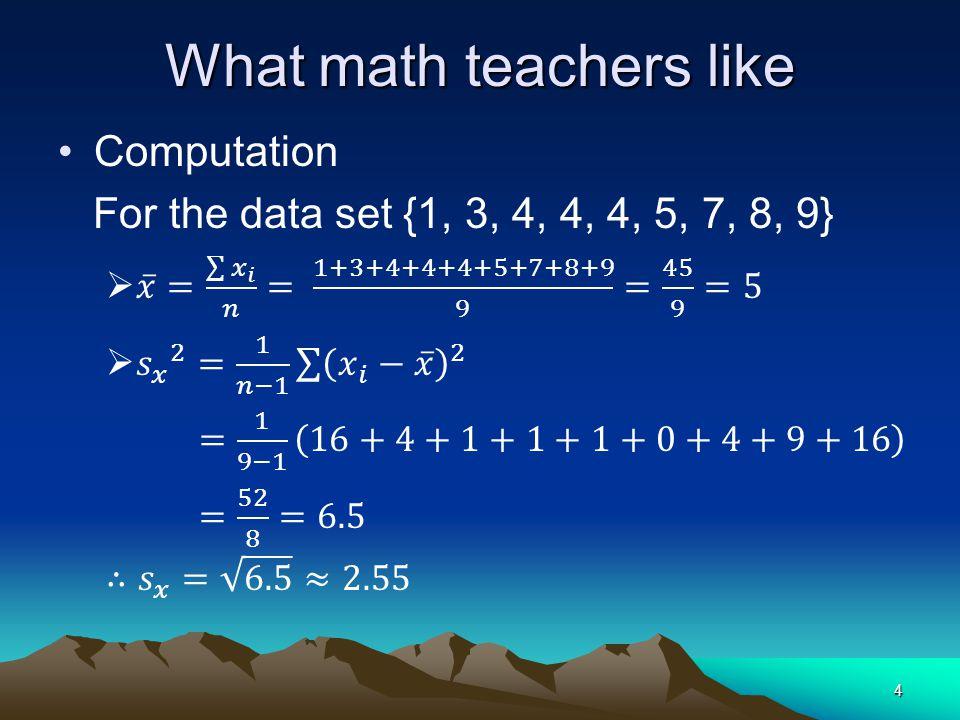 What math teachers like 4