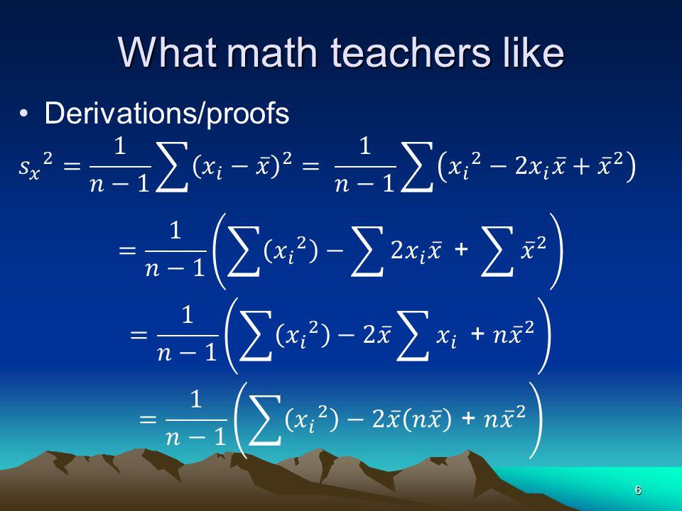 What math teachers like 6
