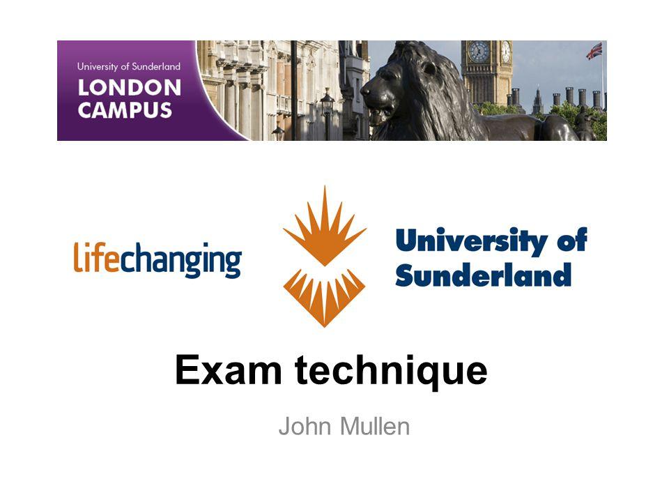 Exam technique John Mullen