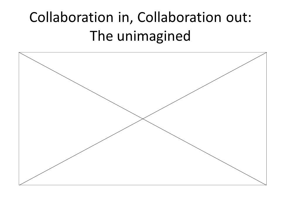 Collaboration in, Collaboration out: The unimagined