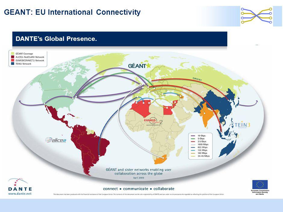GEANT: EU International Connectivity DANTE's Global Presence.