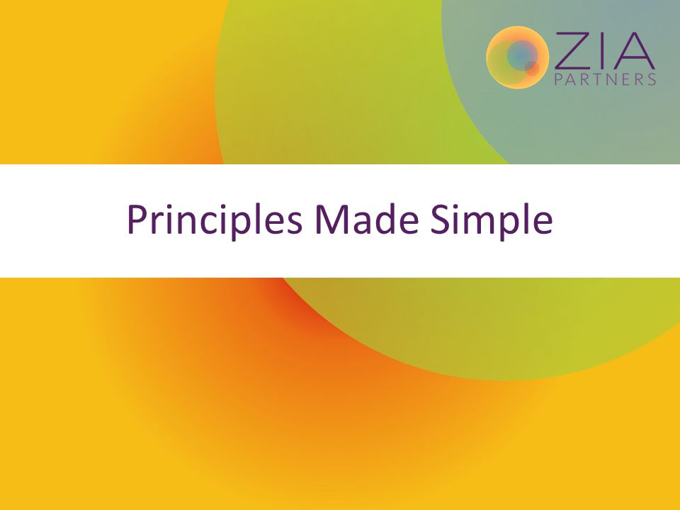 Principles Made Simple