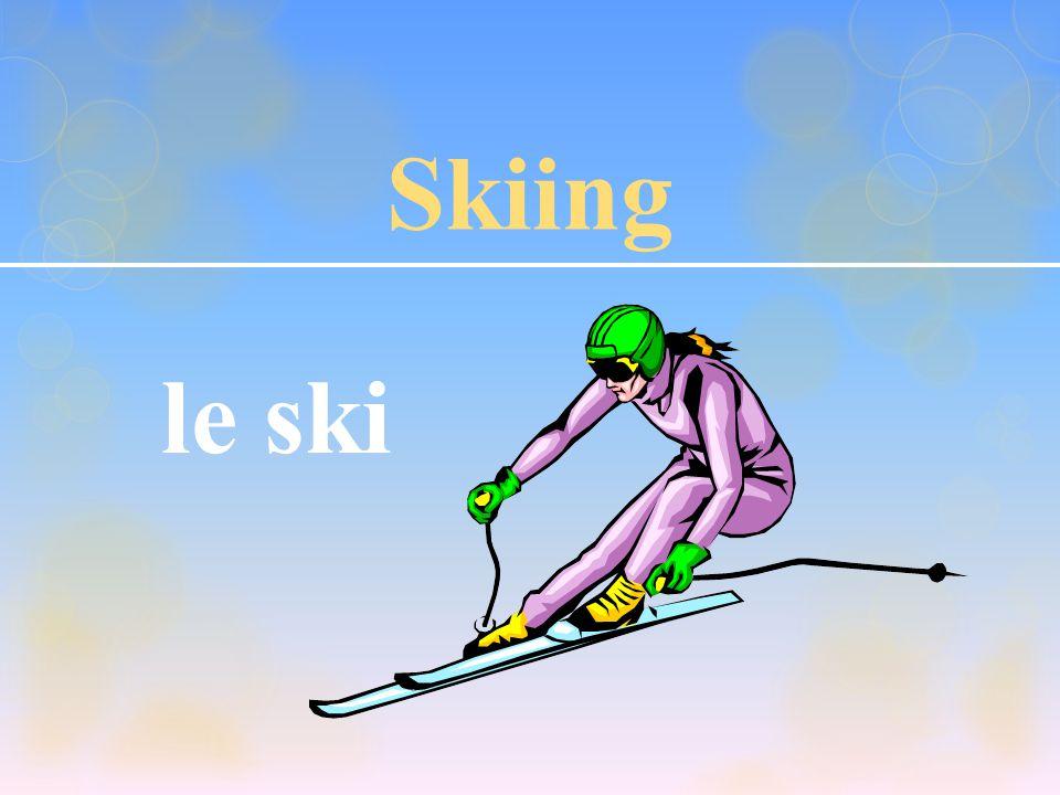 Skiing le ski