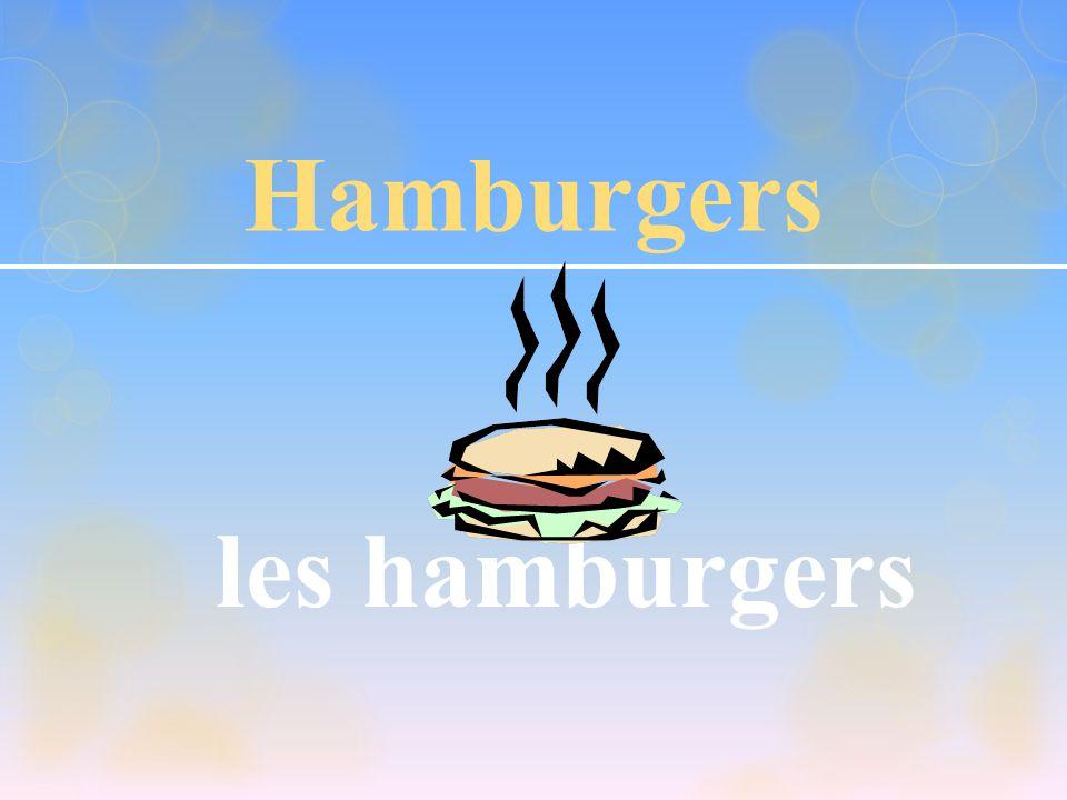Hamburgers les hamburgers