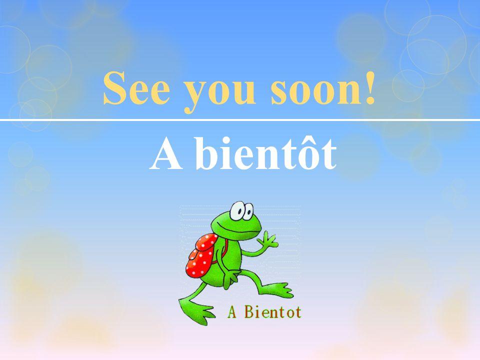See you tomorrow! A demain