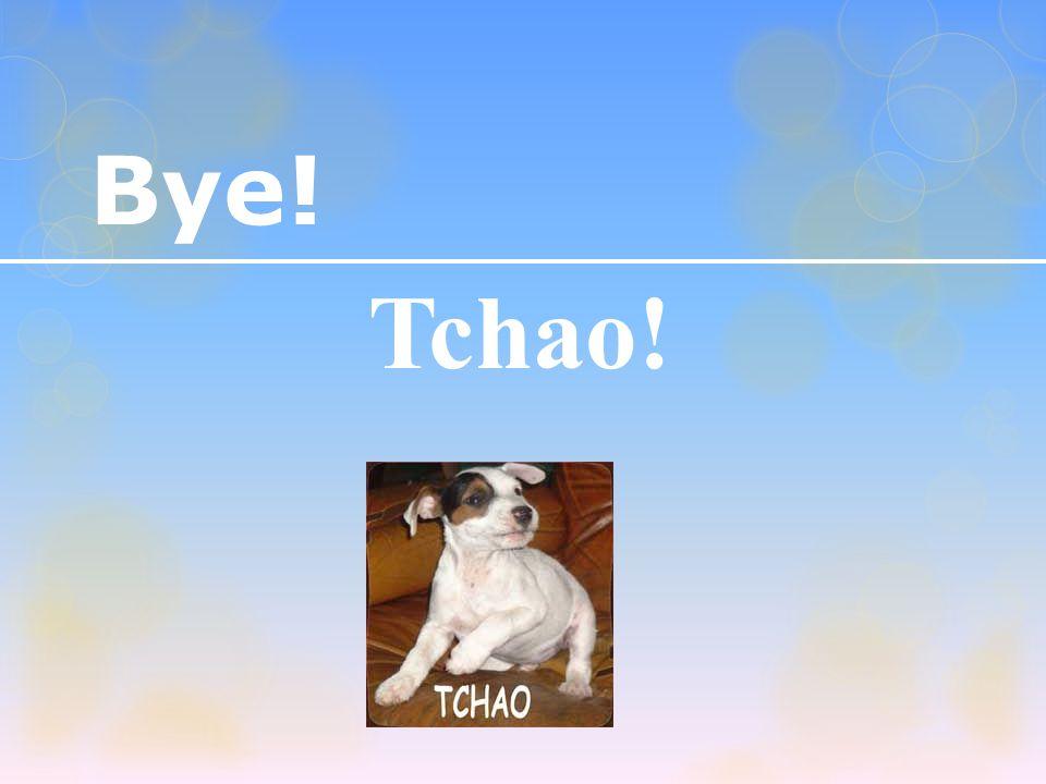Bye! Tchao!