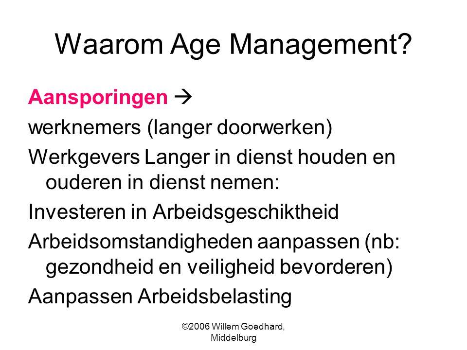 ©2006 Willem Goedhard, Middelburg Waarom Age Management.