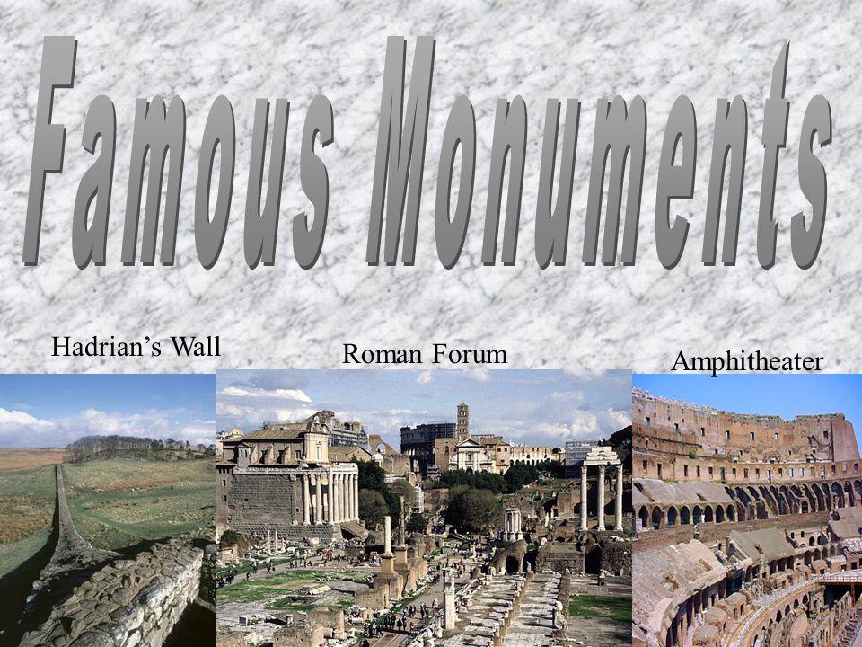 Hadrian's Wall Roman Forum Amphitheater