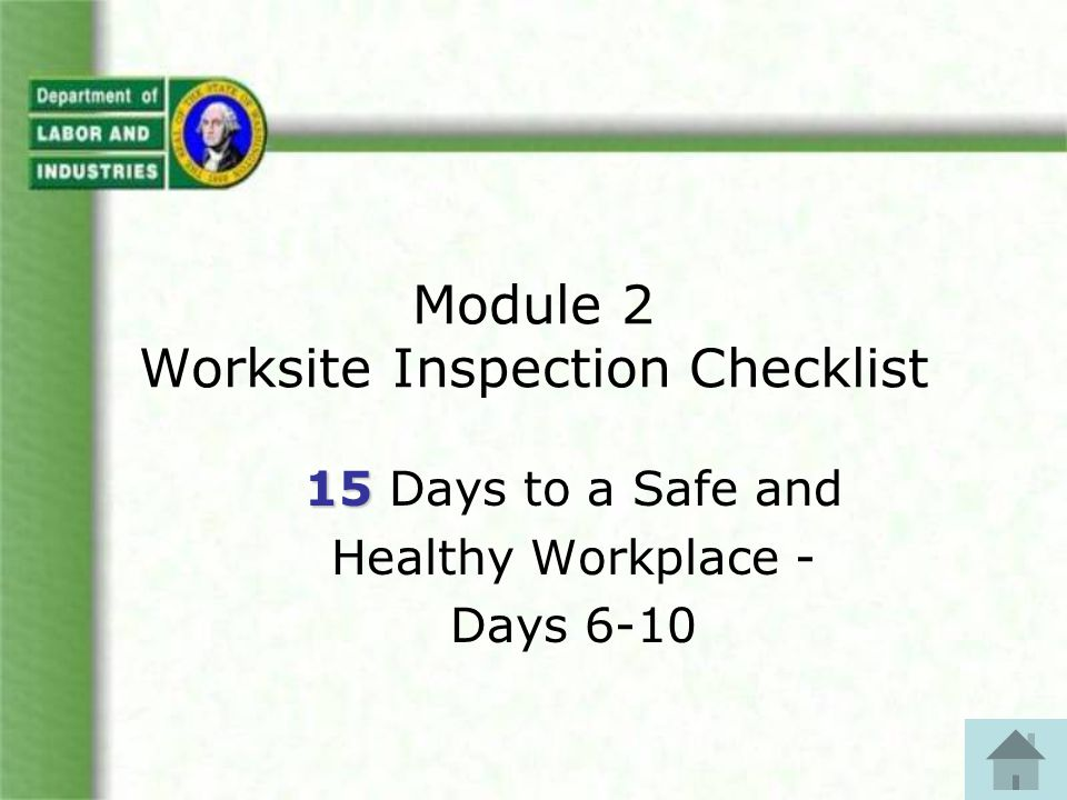DAY 8 – Chemical Safety Now, complete this section of the checklist: