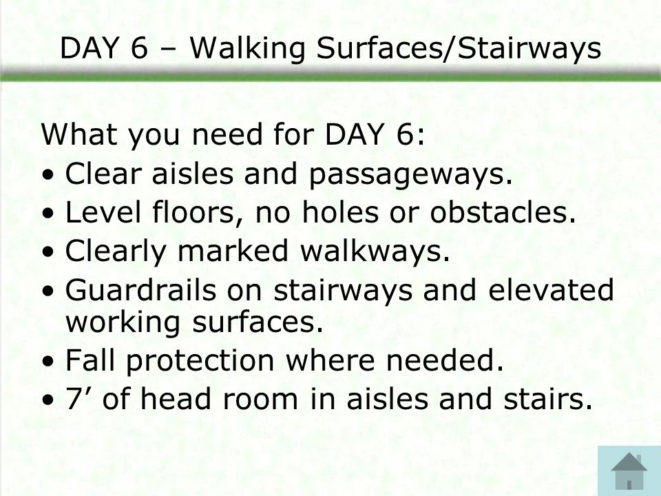 DAY 10 – Portable Ladders Now, complete this section of the checklist: