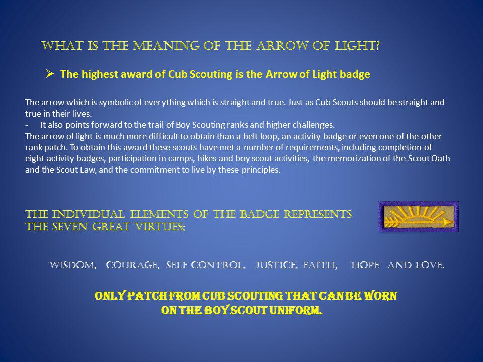 What is the meaning of the Arrow of Light.