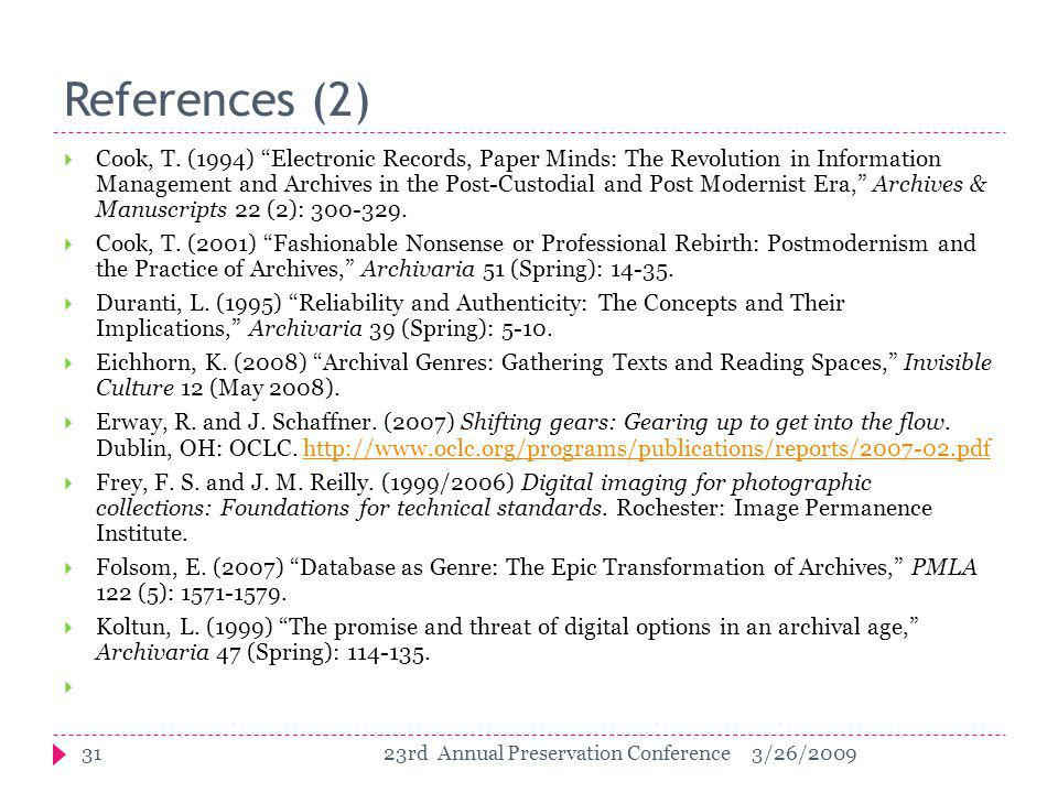 References (2)  Cook, T.