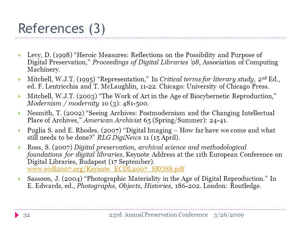 References (3)  Levy, D.