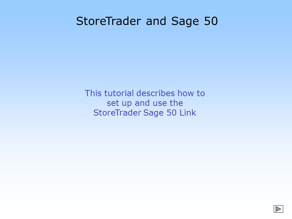 StoreTrader – Sage 50 integration Simplifies implementation for existing or new Line 50 users Creates accounts in Sage 50 to post to Creates account postings – which can update Line 50 at end of day Provides an online review to resolve posting errors – such as missing products Gives up to date and consistent stock and customer information The best PoS system for Sage