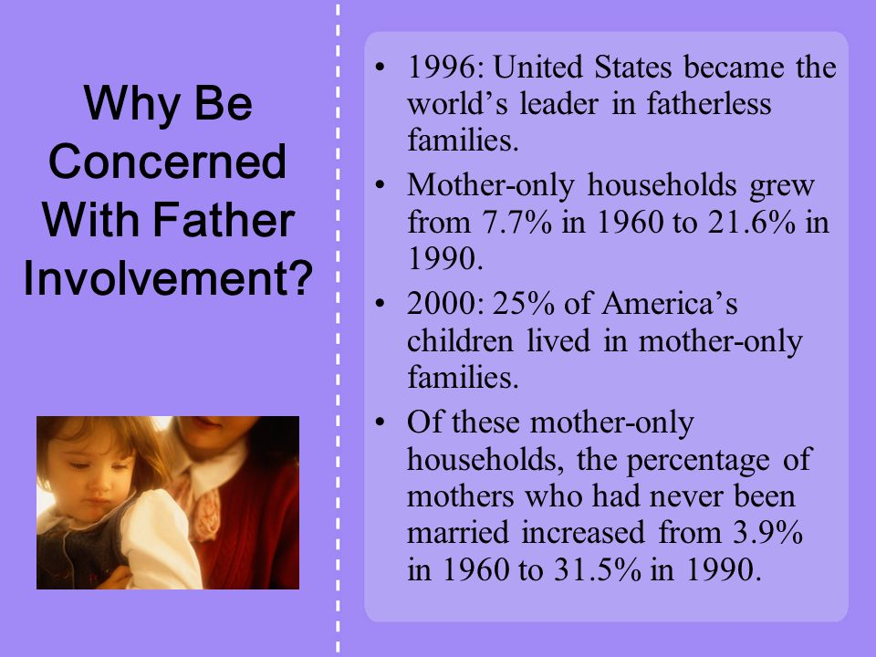 Why Be Concerned With Father Involvement.