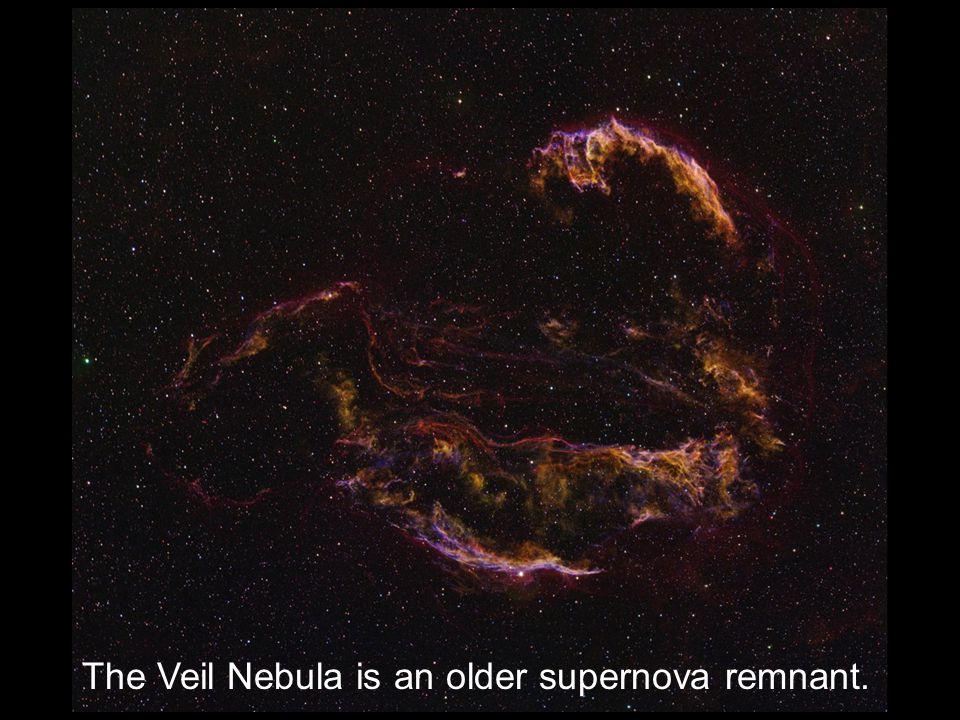 The Veil Nebula is an older supernova remnant.