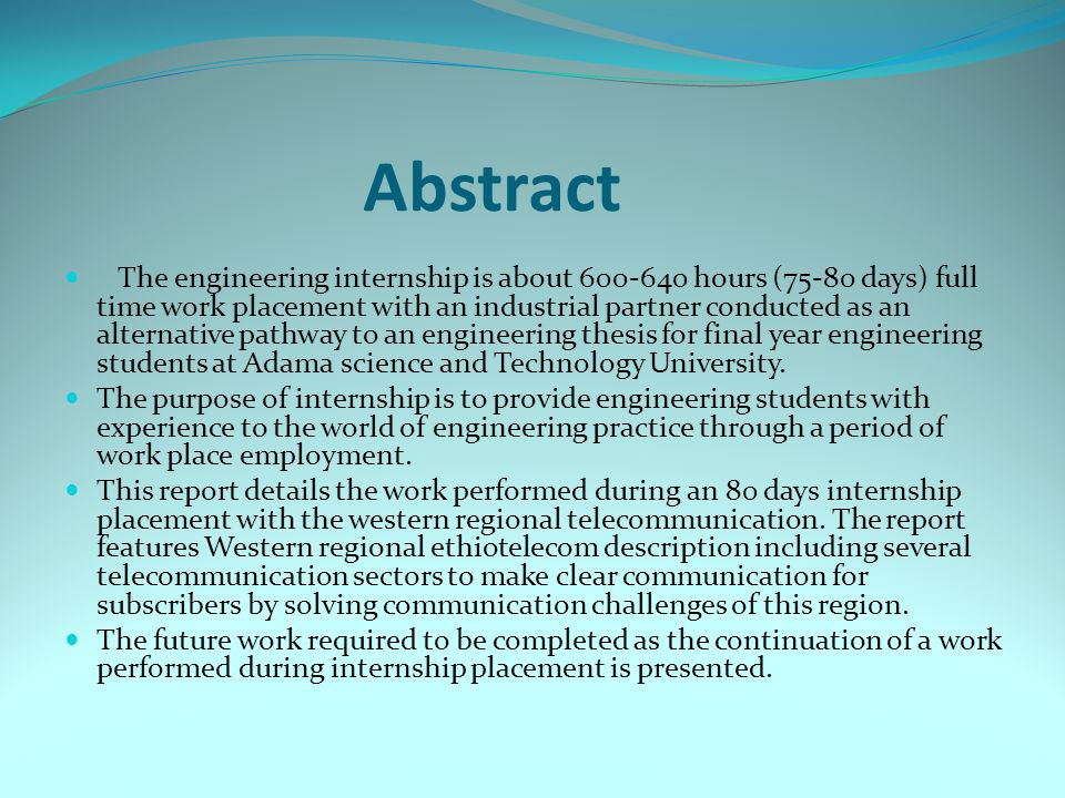 Thesis Abstracts