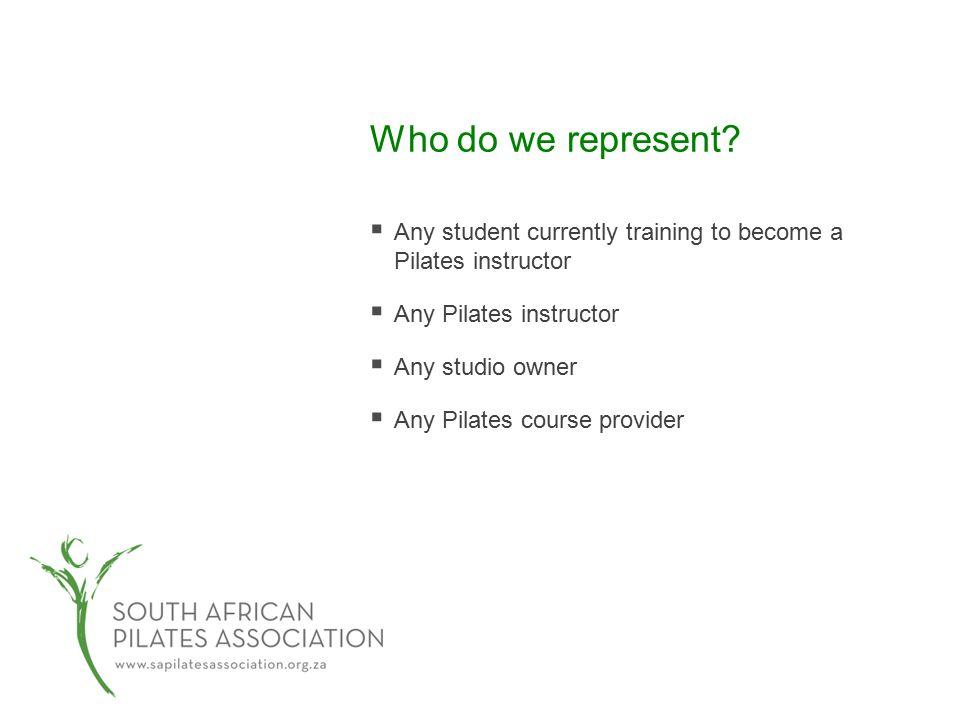Who do we represent.