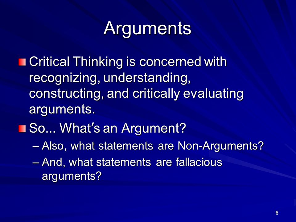 7 Argument A claim defended with reason.