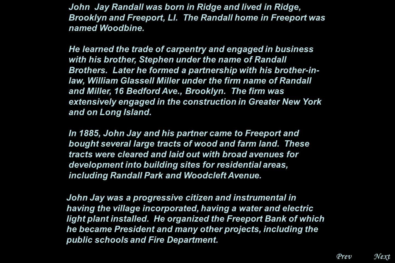 NextPrev. John Jay Randall, Gen. 7