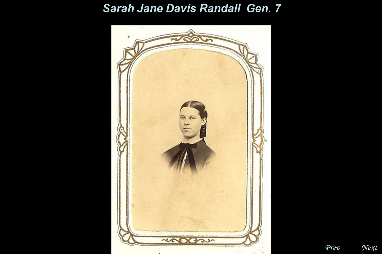 NextPrev. Sara Jane Davis Randall, Gen. 7