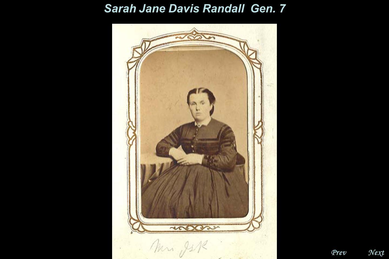 NextPrev. Sarah Jane Davis Randall Gen. 7