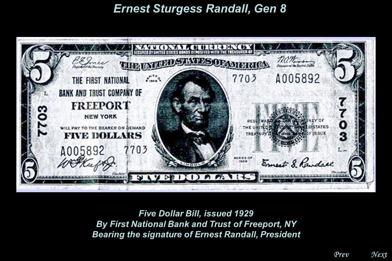 NextPrev. Ernest Sturgess Randall, Gen 8