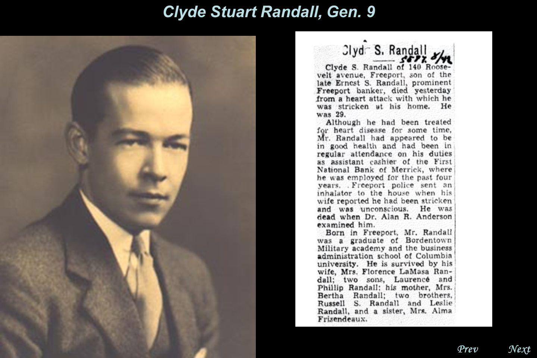 NextPrev. Clyde Stuart Randall, Gen.