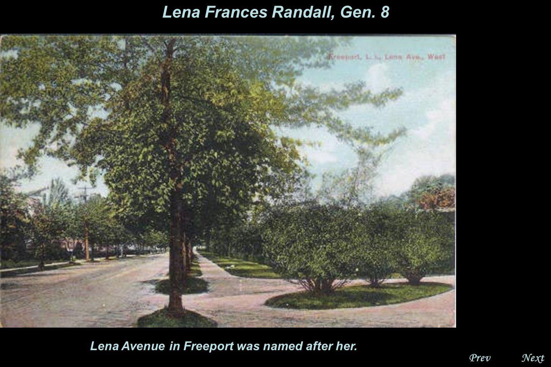 NextPrev. Lena Frances Randall, Gen. 8