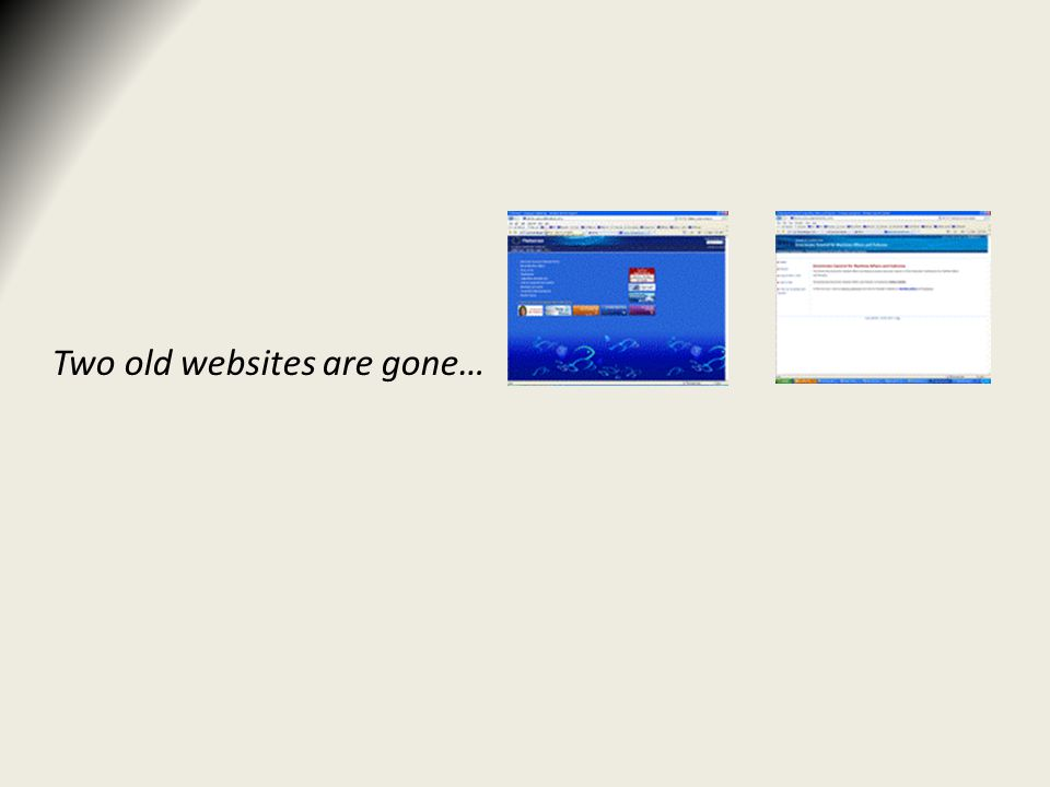 Two old websites are gone…