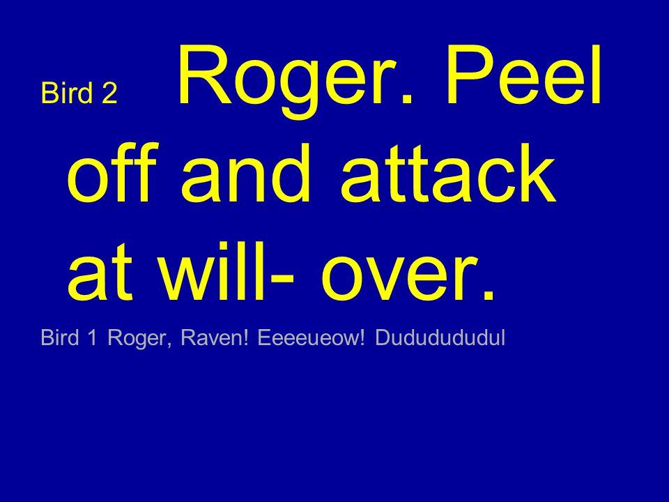 Bird 1Roger, Raven! Eeeeueow! Dududududul