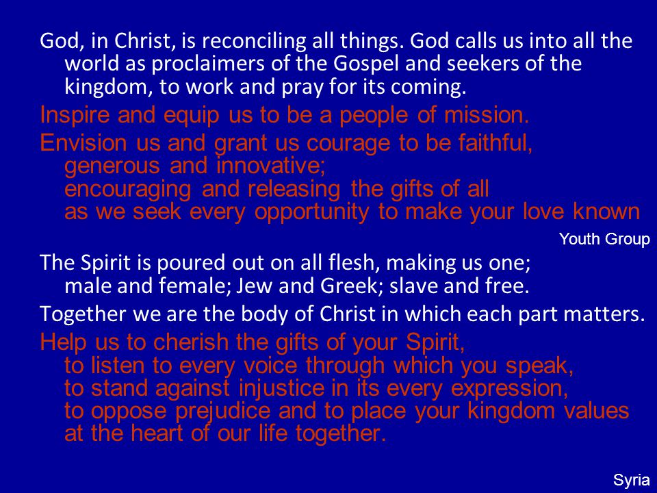 God, in Christ, is reconciling all things.