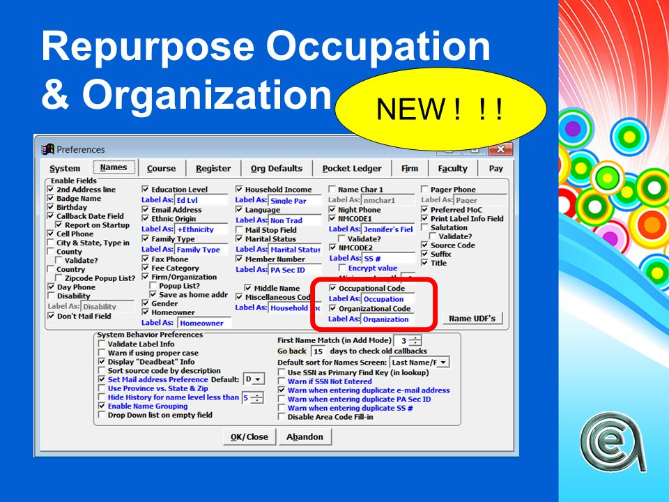 Repurpose Occupation & Organization NEW ! ! !