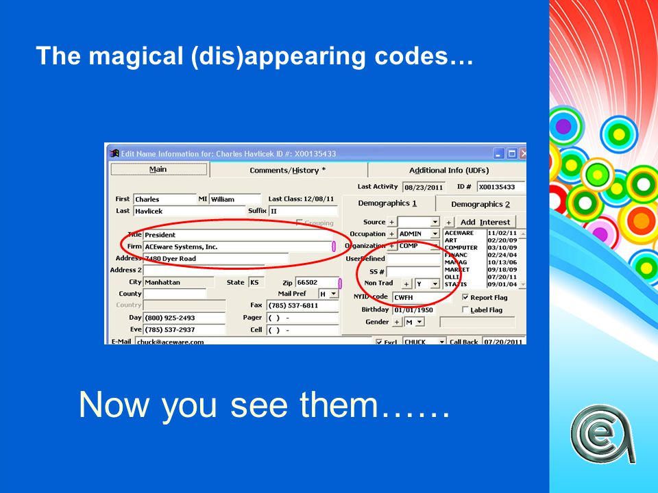 The magical (dis)appearing codes… Now you don't……