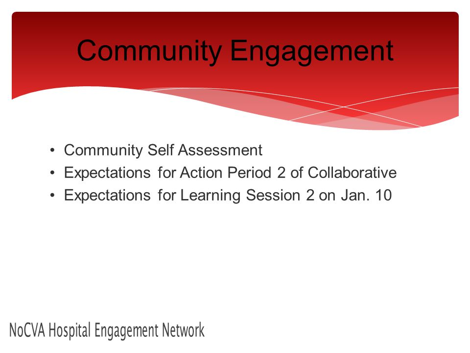 Community Self Assessment Expectations for Action Period 2 of Collaborative Expectations for Learning Session 2 on Jan.