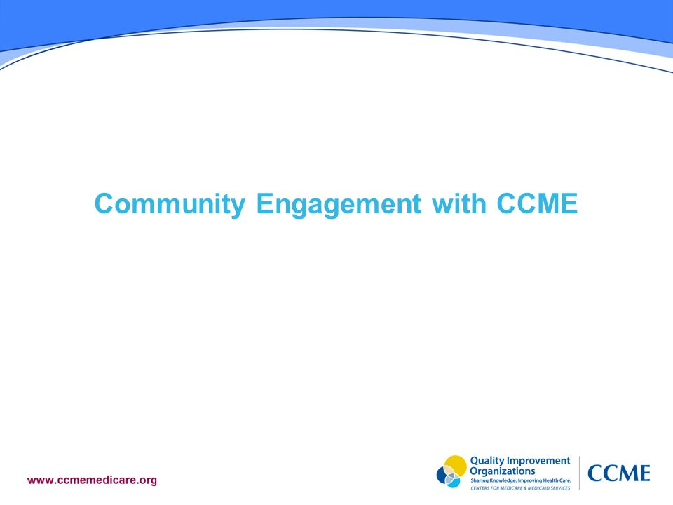 Community Engagement with CCME