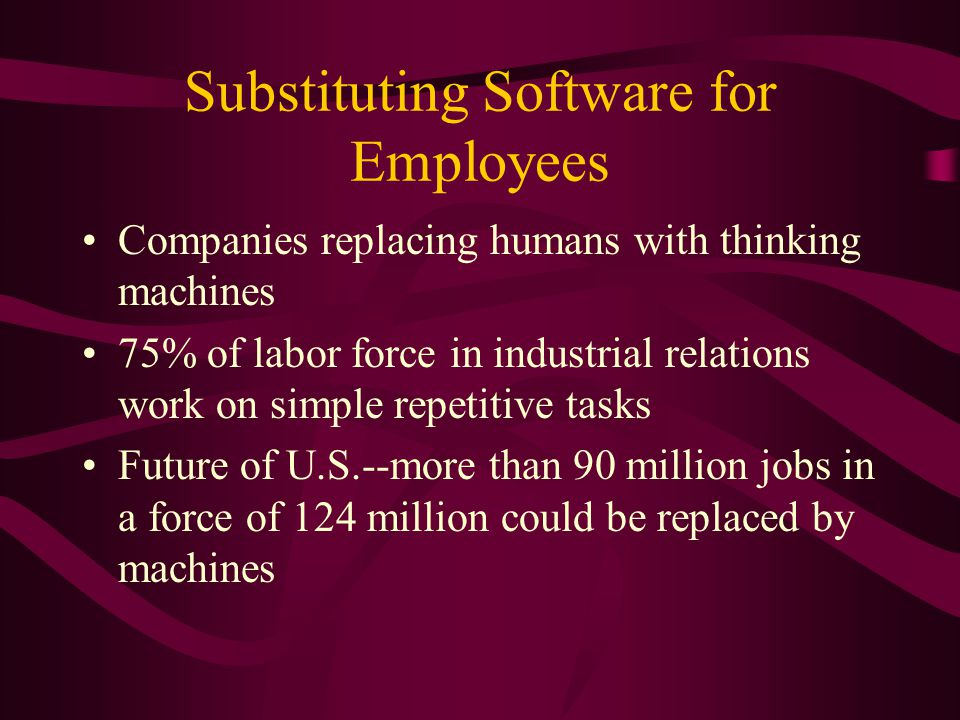 Automating the Automobile Restructuring resulting in layoffs of blue- collar workers on the assembly line Automakers seek innovations to increase production and reduce labor View labor-displacing technology as best bet to cut costs and improve profit Robots approach human capabilities while avoiding problems of human agents