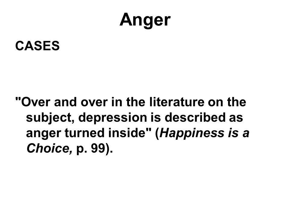 Anger CASES