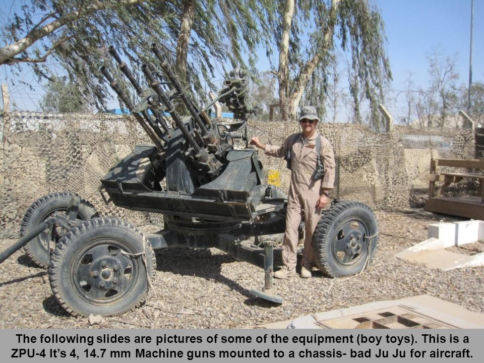 The following slides are pictures of some of the equipment (boy toys).