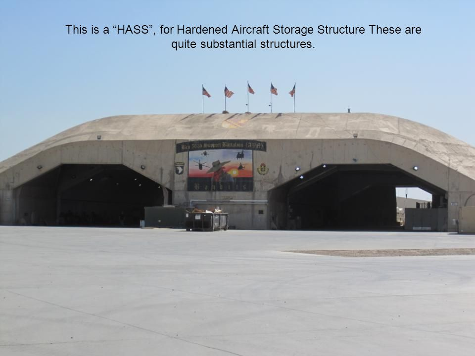 This is a HASS , for Hardened Aircraft Storage Structure These are quite substantial structures.