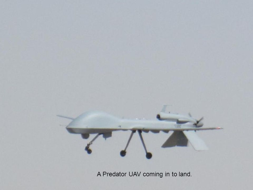 A Predator UAV coming in to land.