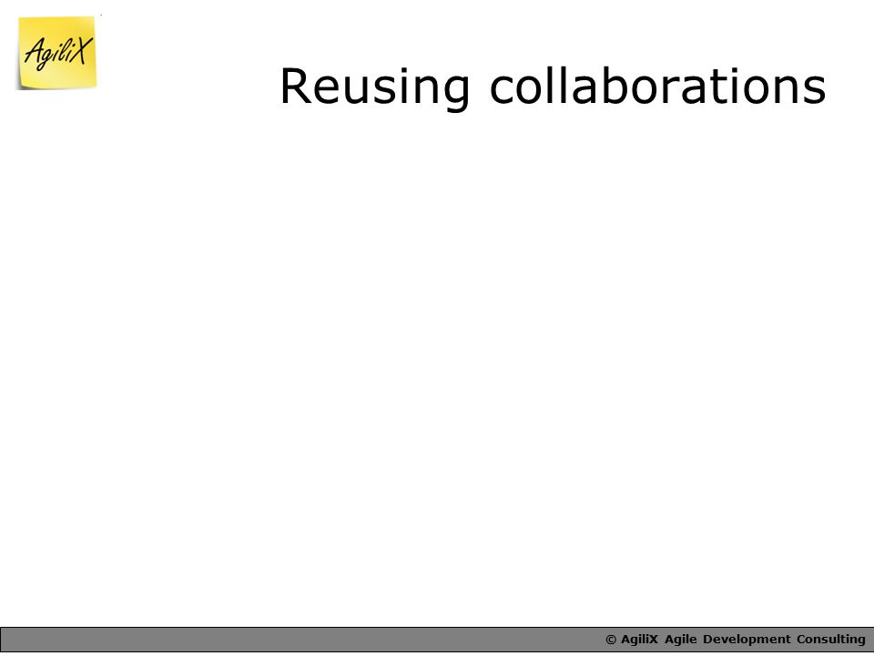 © AgiliX Agile Development Consulting Reusing collaborations