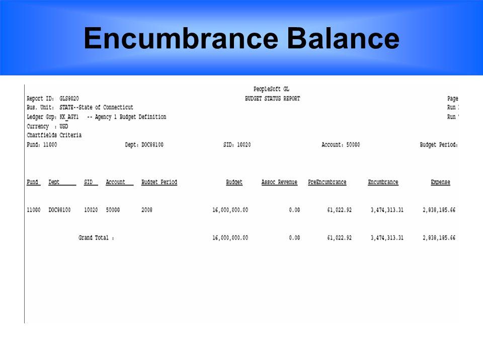 Encumbrance Balance