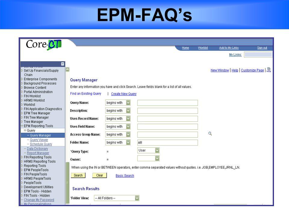 EPM-FAQ's