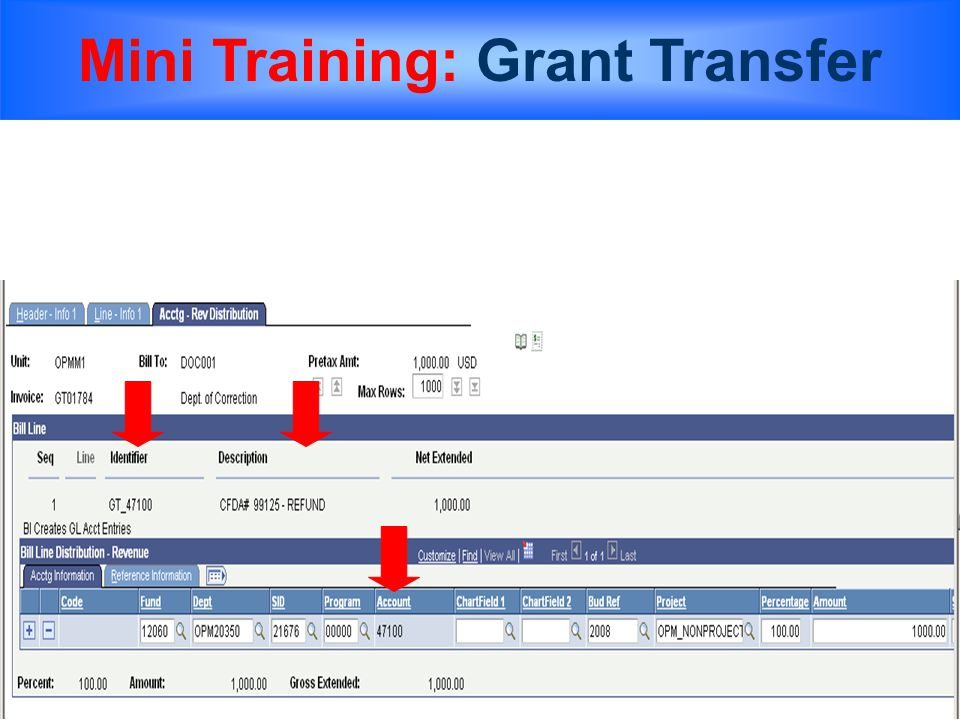 Mini Training: Grant Transfer