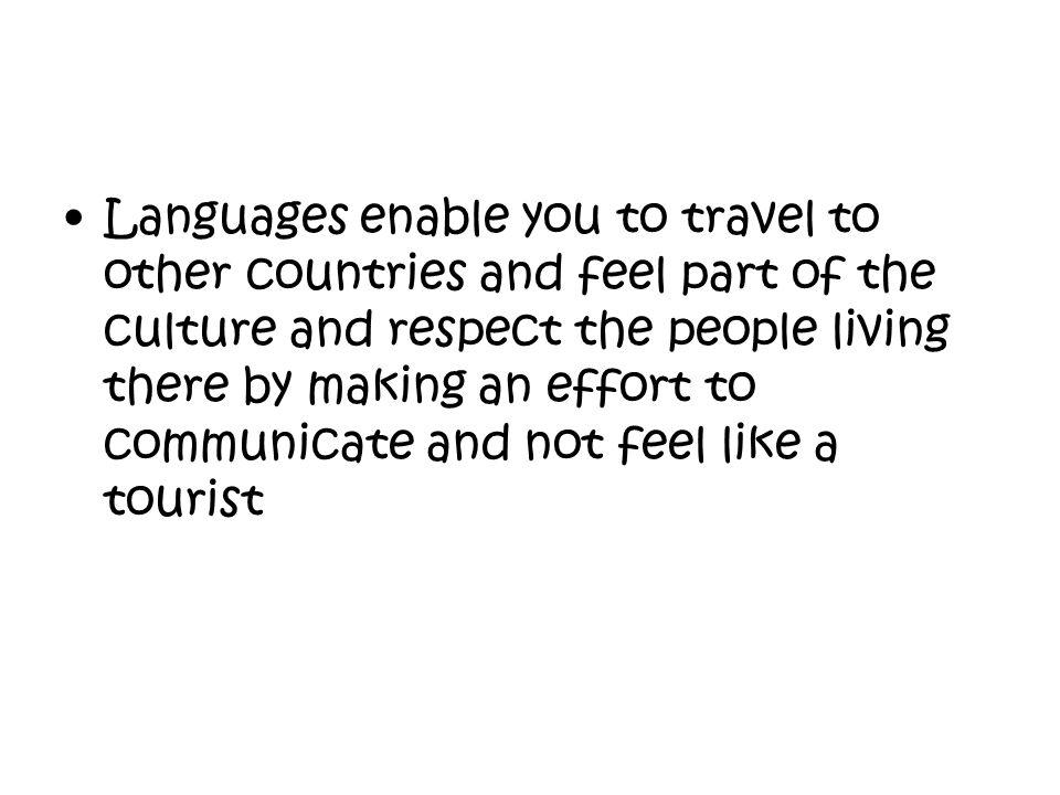 Languages set you free.