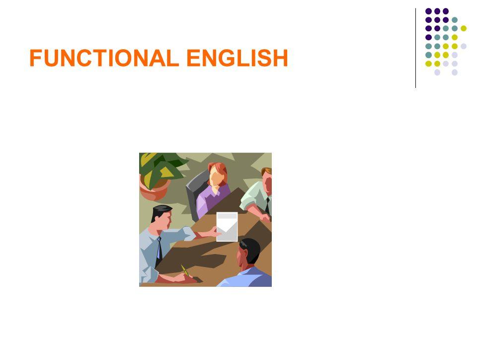 FUNCTIONAL ENGLISH