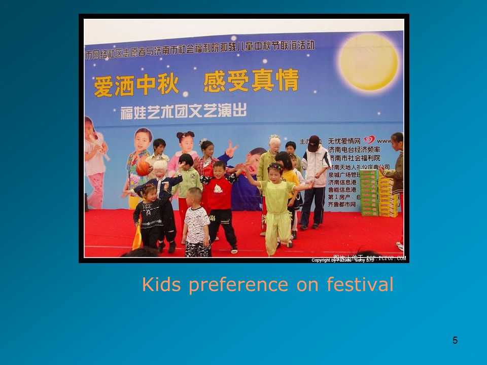 5 Kids preference on festival