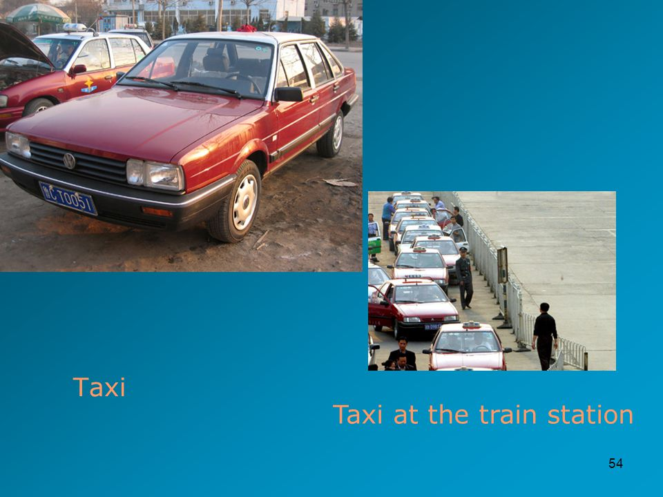 54 Taxi Taxi at the train station
